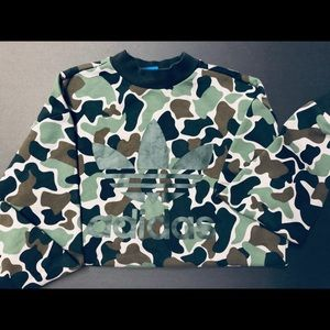 Adidas camo cropped sweater
